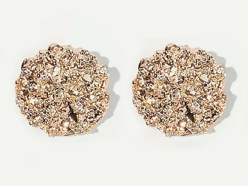 Crushed Gold Studded Earrings