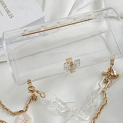 """""""In My Bag"""" Chain Purse (CLEAR)"""