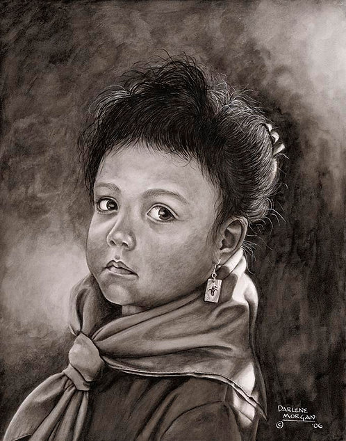 Shoshone Girl, Framed Original