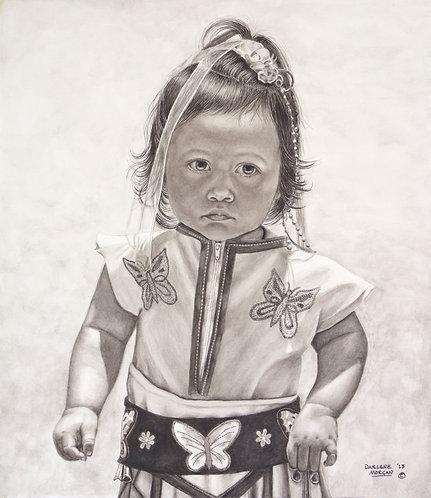 Little Princess at Imperial Beach, Framed Original