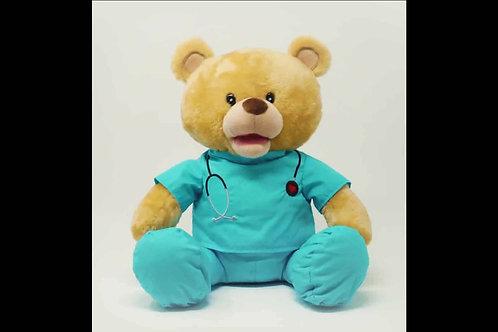 "Animated Medical Professional Bear Sings ""I Feel Good"""