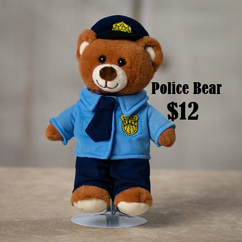 Plush Police Bear
