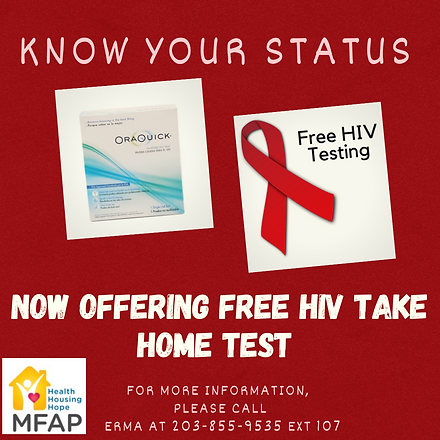 HIV TAKE HOME TEST Photo Instagram Post.