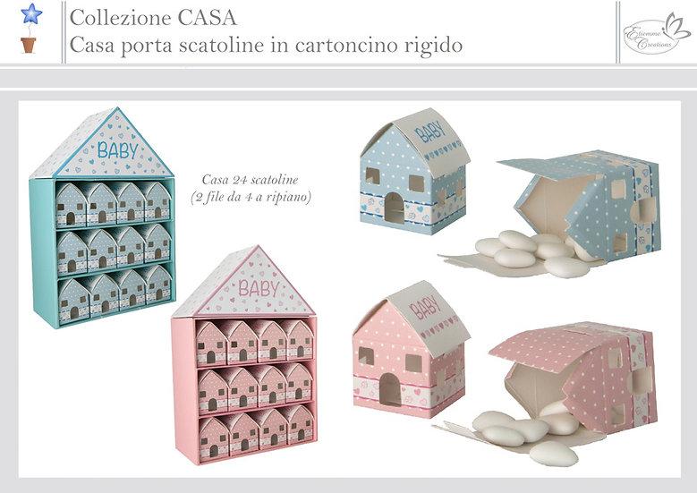 Portaconfetti Baby Casa (struttura +24 box casa)