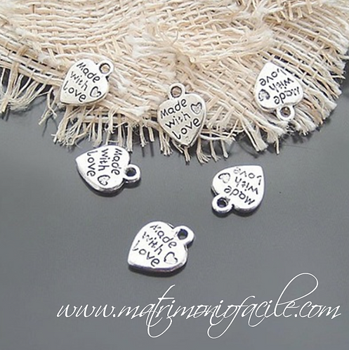 Pendaglio cuori 'Made with Love'