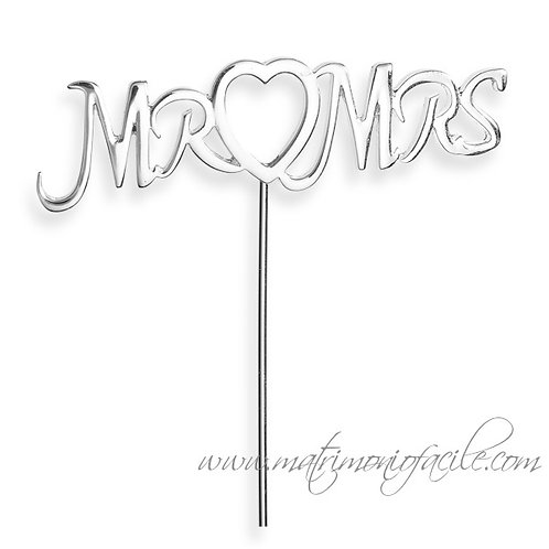 CAKE TOPPER  STECCHINO 'Mr and Mrs'