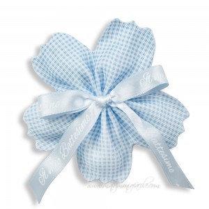 Nastro portaconfetti -  Quadretti azzurro