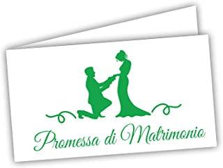 Etichette confetti personalizzate promessa