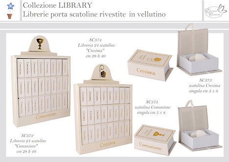 Portaconfetti  Libreria + 24 box libri