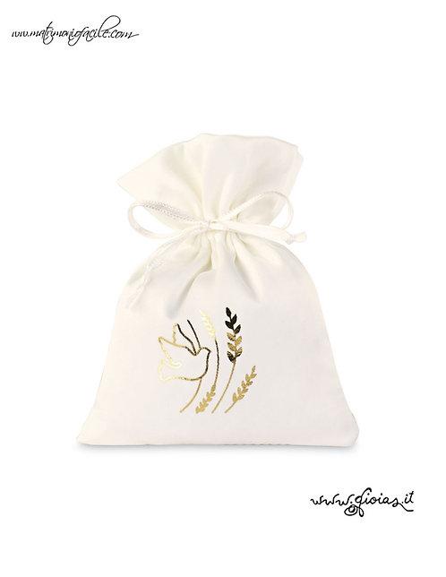sacchetto portaconfetti colomba comunione cresima