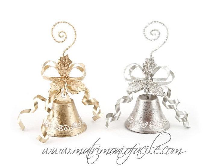 Segnaposto Set campanelle oro/argento