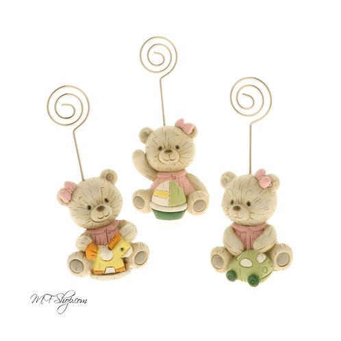 Bomboniera/segnaposto Baby wood clip