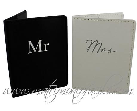 Mr & Mrs Porta-Passaporti sposi viaggio
