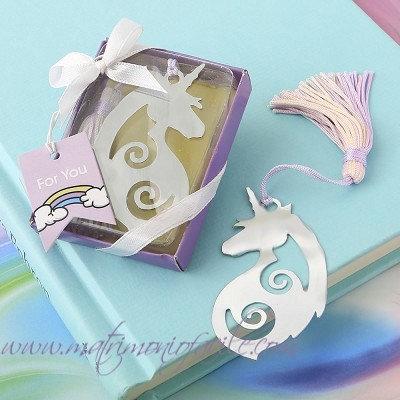 Segnalibro Unicorno bomboniera cielo fiaba magia