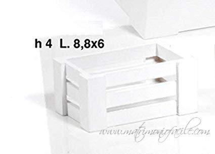 Portaconfetti - Cassettina in legno bianca