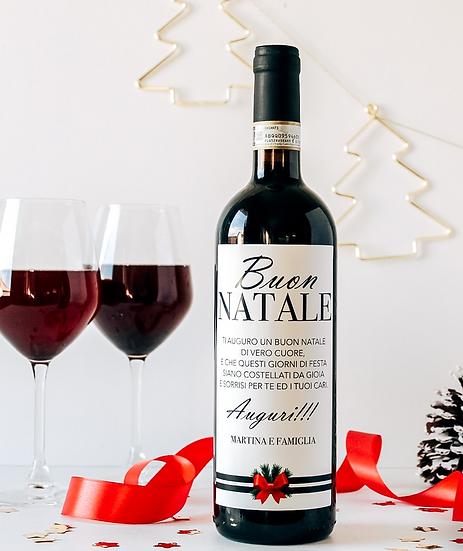Etichetta vino personalizzata natalizia