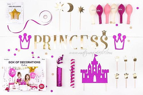BOX SET  decorazioni principessa tovaglioli festa palloncini