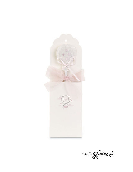 Bomboniera - Matita  rosa con mongolfiera