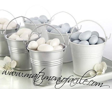 Secchielli latta portaconfetti segnaposto