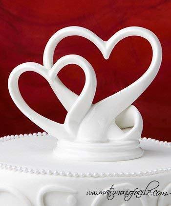 CAKE TOPPER  'Cuori intrecciati'