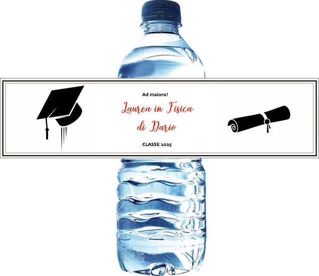 Etichette acqua personalizzate per Laurea