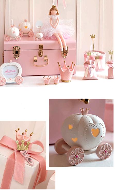 CORONA rosa e oro regina principessa portafoto segnaposto