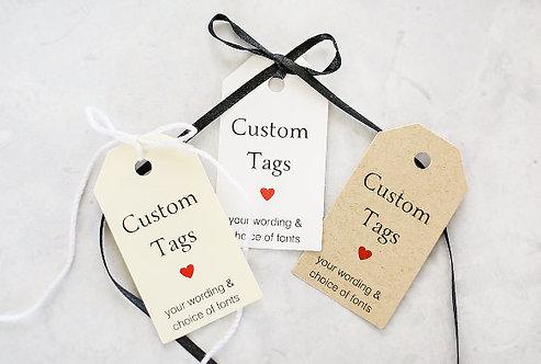 Etichette/Tag con foro personalizzate