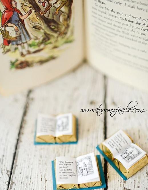 Cioccolattini libri personalizzati