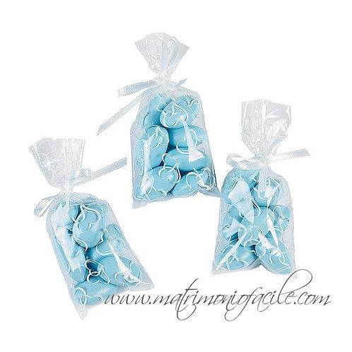 BUSTE CELLOFAN  cuori confetti