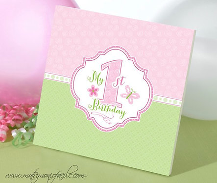 """Libro Memorie """"Il mio primo compleanno"""" in rosa"""