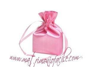 Portaconfetti  Sacchetto raso  rosa