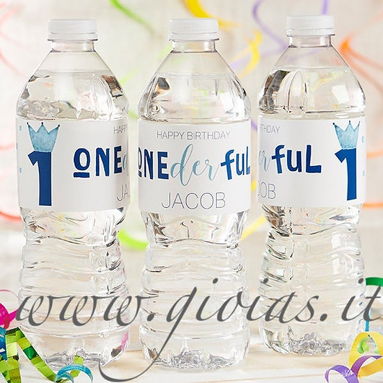 Etichette acqua personalizzate 1° compleanno