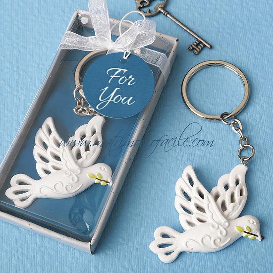 Portachiavi - colomba della pace