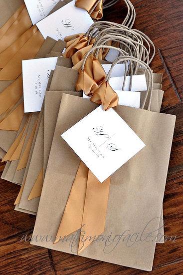 Wedding Bag - Buste carta personalizzate con etichetta quadrata