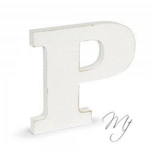 Lettere Shabby in legno - P/Z