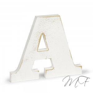 Lettere Shabby in legno - A/O