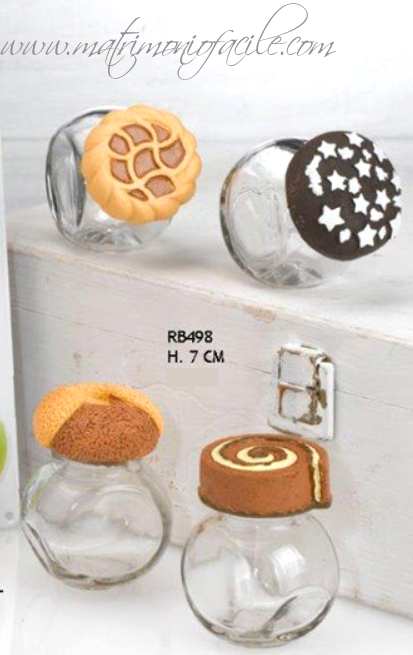 Vasetti vetro - Merendine cucina biscotti confetti