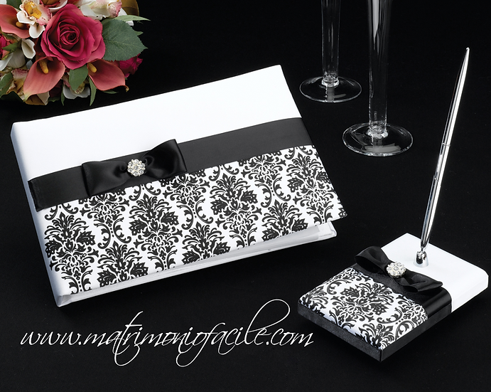 Guest Book + penna Damascato