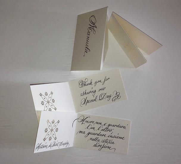 Etichette confetti personalizzate
