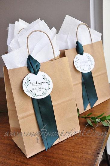 Wedding Bag - Buste carta personalizzate con etichetta rotonda