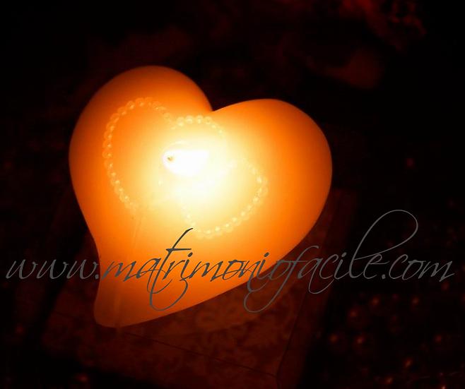 Candela cuore galleggiante + confezione