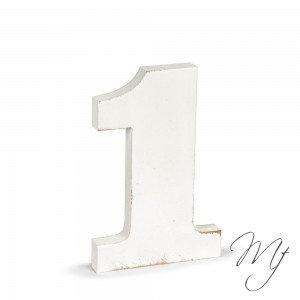 Numeri shabby in legno