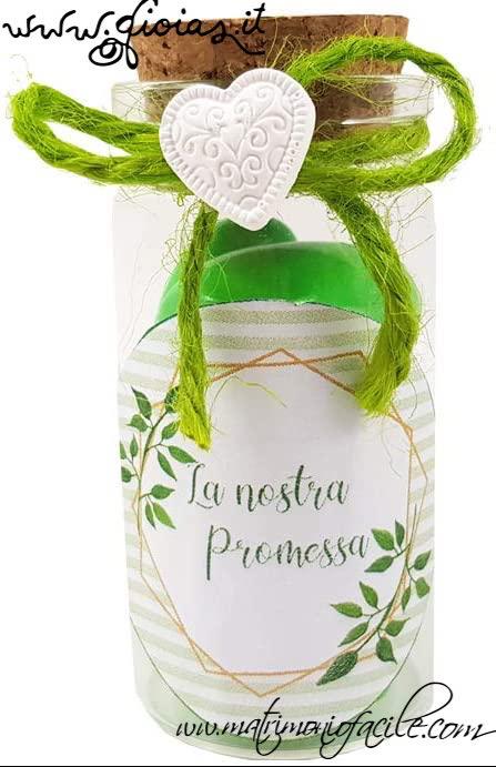Bomboniera/Portaconfetti  provetta personalizzato