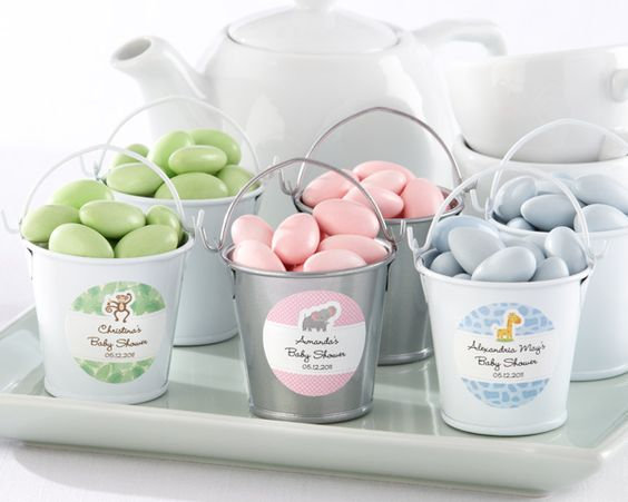 Secchielli latta con stickers personalizzato