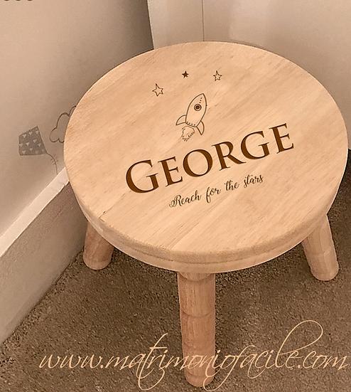 Sgabello legno personalizzato