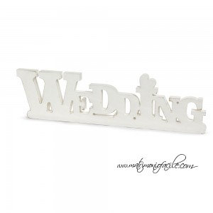Scritta Shabby 'Wedding'