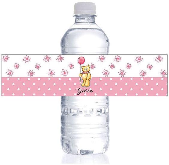 Etichette acqua personalizzate bimbi