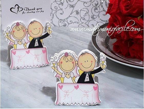 Segnaposto Brindisi sposi