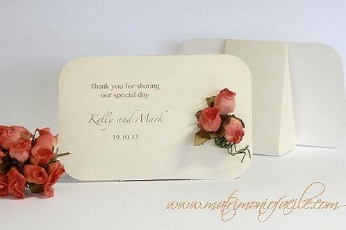 Segnaposto Portaconfetti personalizzato con rose