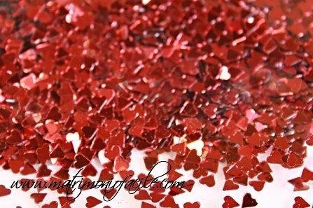 Coriandoli cuore rosso